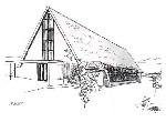 Line drawing of the Kirk