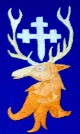 Stag with cross